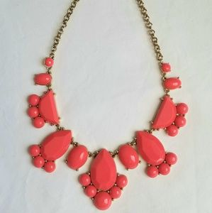 Kate Spade coral pink bauble necklace